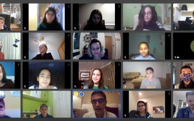 Los niños y niñas de Alcalá merendaron virtualmente con su alcalde y el concejal de Infancia