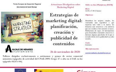 Comercio organiza para este jueves un taller gratuito online de marketing digital