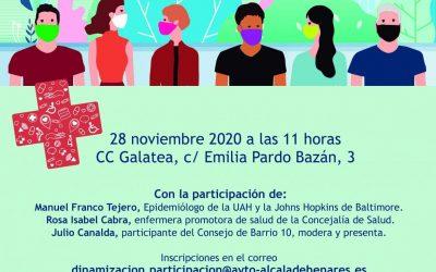 """Este sábado, foro de encuentro: """"El barrio de Espartales y la salud pública"""" en el Centro Cultural La Galatea"""