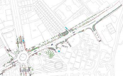 El Ayuntamiento mejora la movilidad y la seguridad en el entorno de la calle Ronda Fiscal y la glorieta de Manuel Azaña