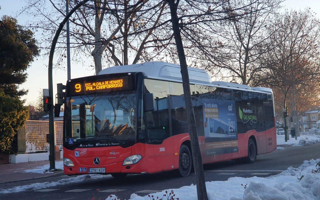 Esta tarde comienzan a funcionar la línea circular y la 7 de autobús urbano de Alcalá de Henares