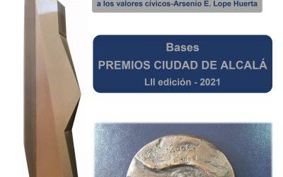 Abierto el plazo de presentación de candidaturas a la LII edición de los Premios Ciudad de Alcalá