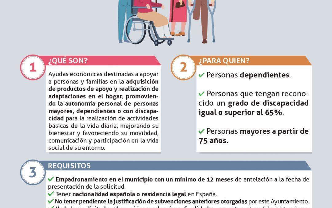 Abierto el plazo de solicitud de las ayudas destinadas a promover la autonomía personal