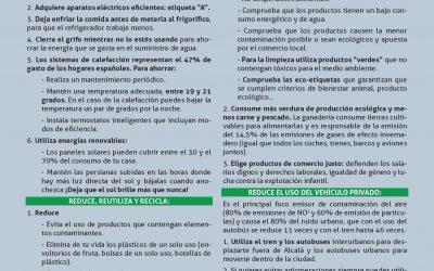 La Universidad y el Ayuntamiento de Alcalá de Henares se suman un año más a la #HoraDelPlaneta
