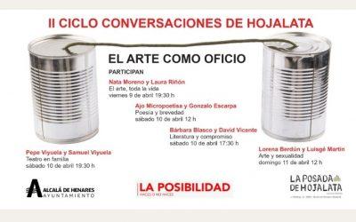 """Vuelve el ciclo """"Conversaciones de Hojalata"""", con una segunda edición centrada en «El arte como oficio»"""