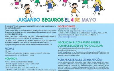 """Los colegios públicos Antonio Mingote, Miguel Hernández y Emperador Fernando abrirán """"para jugar"""" el día no lectivo 4 de mayo"""