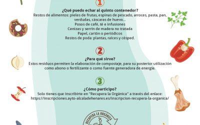 Alcalá de Henares inicia la recogida selectiva de residuos orgánicos en un quinto contenedor en vía pública