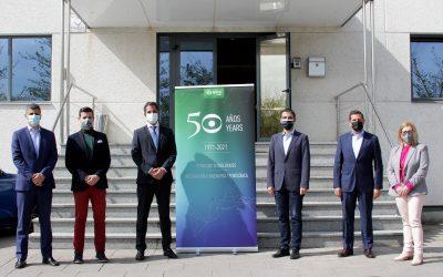 El alcalde y el concejal de Innovación Tecnológica visitan las instalaciones de la empresa Ikusi en Alcalá de Henares