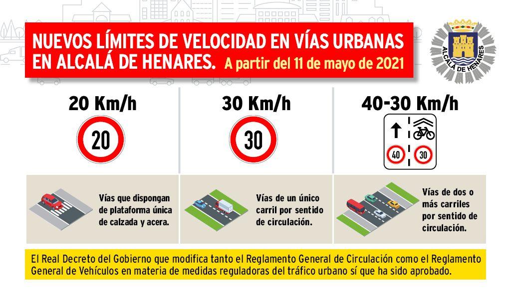 El 11 de mayo entran en vigor los nuevos límites de velocidad en vías urbanas aprobados por la DGT