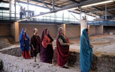La Casa de Hippolytus fue ayer el escenario de una recreación teatral romana