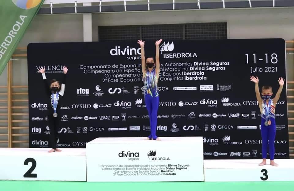 Los alcalaínos Víctor Laczko y Miguel Fernández se llevan 3 medallas de oro y 2 bronces respectivamente en el Campeonato de España de Gimnasia Rítmica
