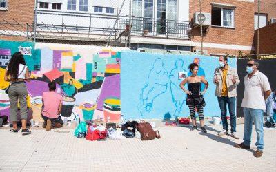 Hoy se ha celebrado la primera jornada del evento de arte urbano en la Plaza Andrés Manuel del Río