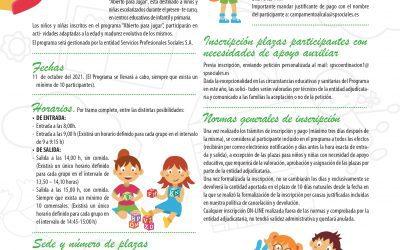 """El CEIP La Garena abrirá """"para jugar"""" el día no lectivo 11 de octubre"""