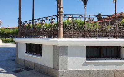 El Ayuntamiento restaura el quiosco de la música de la Plaza de Cervantes